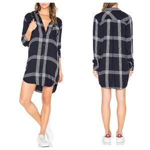 RAILS Bianca plaid shirt dress XS